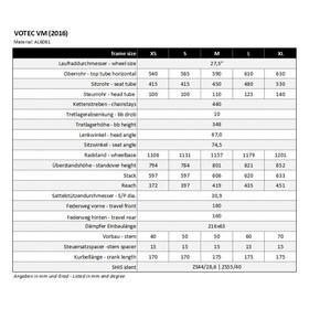 VOTEC VM Pro - VTT tout suspendu - gris